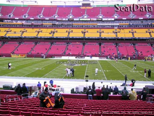 Seat view from section 121 at Fedex Field, home of the Washington Redskins