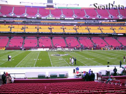 Seat view from section 122 at Fedex Field, home of the Washington Redskins