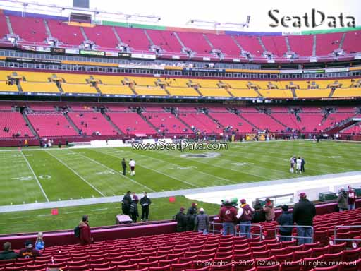Seat view from Dream Seats 24 at Fedex Field, home of the Washington Redskins