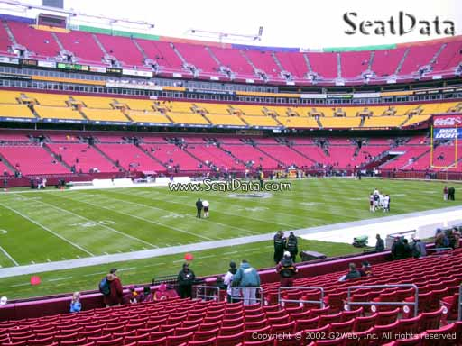 Seat view from Dream Seats 25 at Fedex Field, home of the Washington Redskins