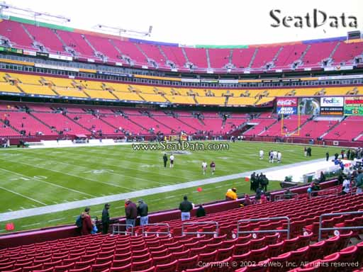 Seat view from Dream Seats 26 at Fedex Field, home of the Washington Redskins