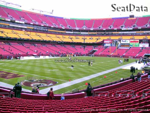 Seat view from Dream Seats 28 at Fedex Field, home of the Washington Redskins