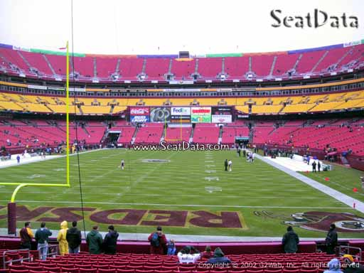 Seat view from Dream Seats 31 at Fedex Field, home of the Washington Redskins