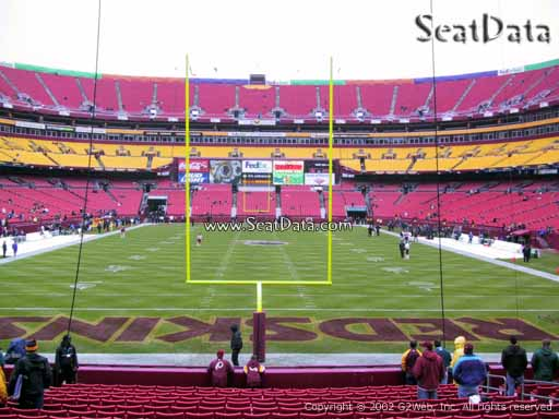 Seat view from section 132 at Fedex Field, home of the Washington Redskins