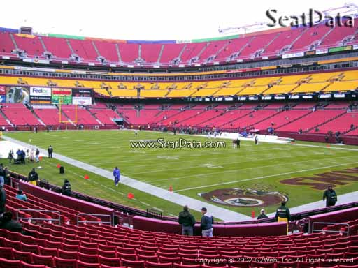 Seat view from Dream Seats 36 at Fedex Field, home of the Washington Redskins