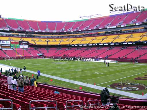 Seat view from section 137 at Fedex Field, home of the Washington Redskins