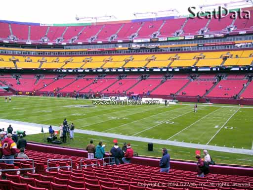 Seat view from section 139 at Fedex Field, home of the Washington Redskins