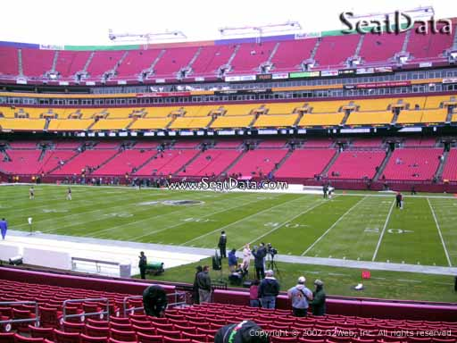 Seat view from Dream Seats 40 at Fedex Field, home of the Washington Redskins