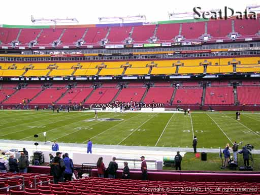 Seat view from section 141 at Fedex Field, home of the Washington Redskins