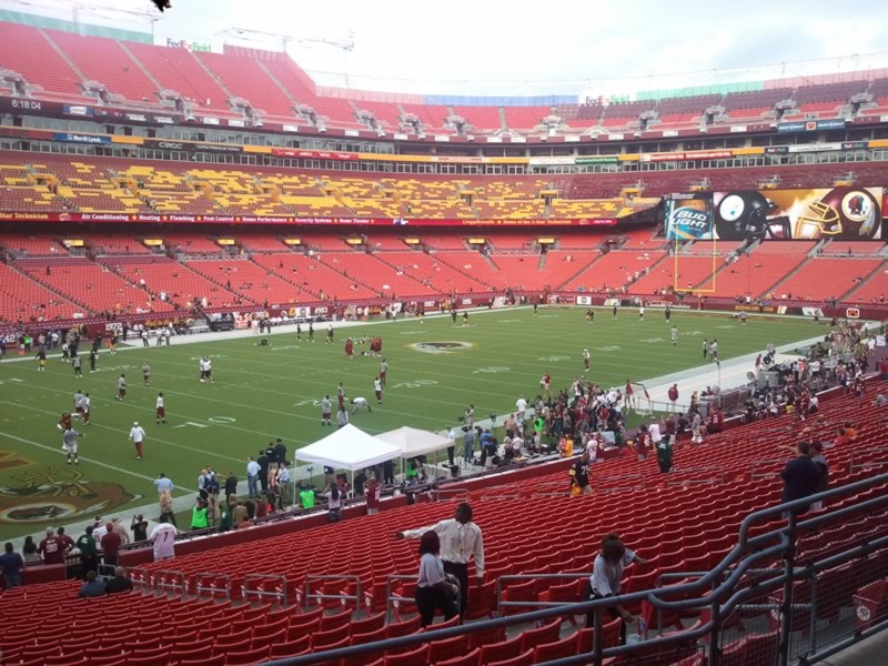 Seat view from section 206 at Fedex Field, home of the Washington Redskins