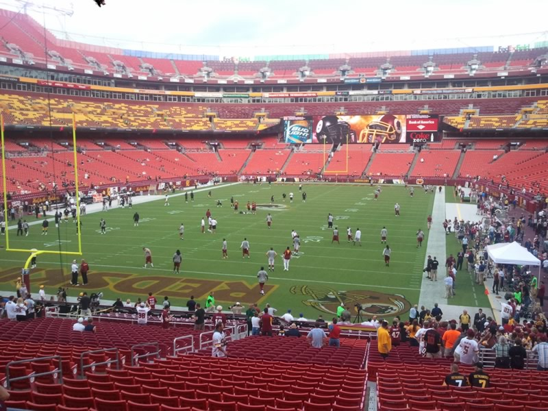 Seat view from section 209 at Fedex Field, home of the Washington Redskins