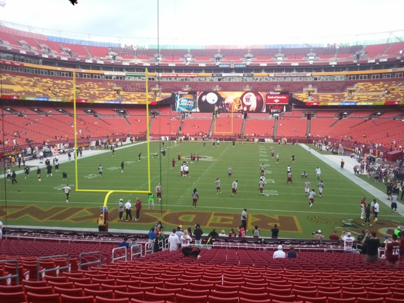 Seat view from section 210 at Fedex Field, home of the Washington Redskins