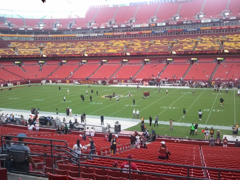 Seat view from section 219 at Fedex Field, home of the Washington Redskins