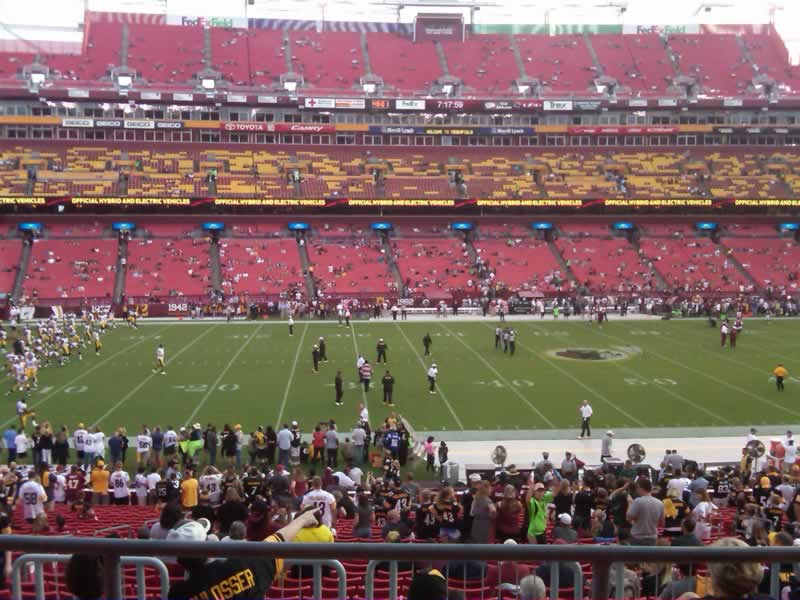 Seat view from section 223 at Fedex Field, home of the Washington Redskins