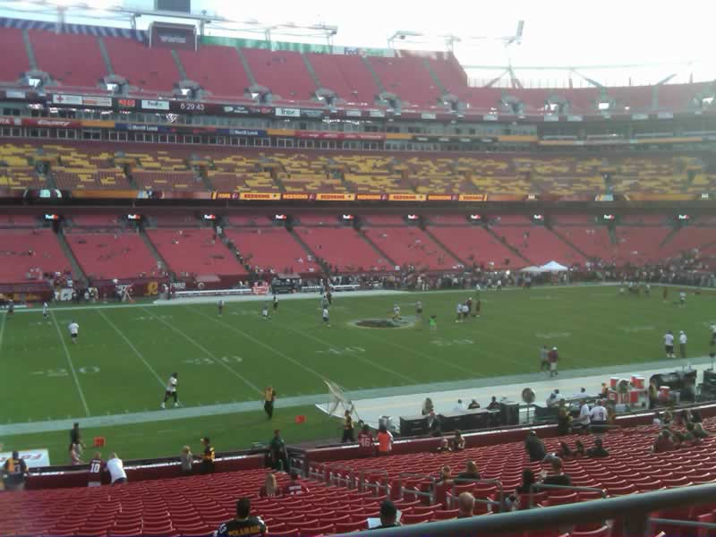 Seat view from section 224 at Fedex Field, home of the Washington Redskins