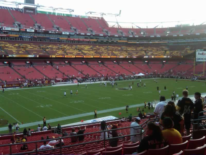 Seat view from section 226 at Fedex Field, home of the Washington Redskins