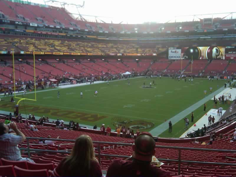 Seat view from section 229 at Fedex Field, home of the Washington Redskins