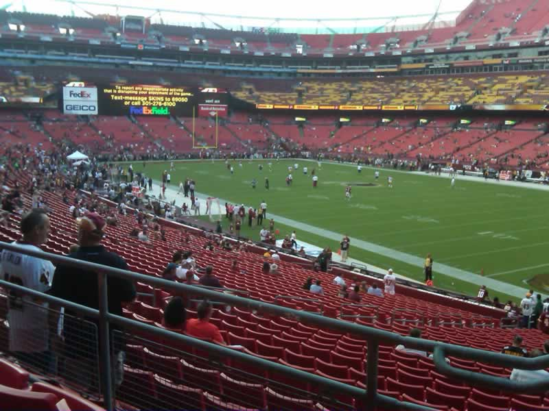 Seat view from section 237 at Fedex Field, home of the Washington Redskins