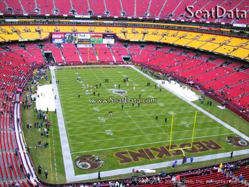 Seat view from section 334 at Fedex Field, home of the Washington Redskins