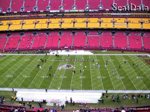 Seat view from section 342 at Fedex Field, home of the Washington Redskins