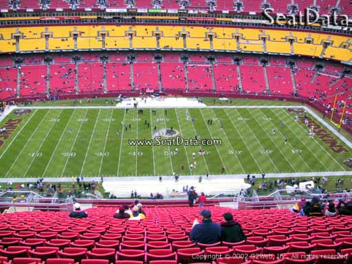 Seat view from section 401 at Fedex Field, home of the Washington Redskins