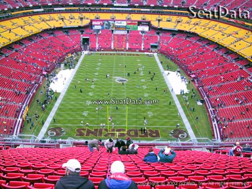 Seat view from section 441 at Fedex Field, home of the Washington Redskins