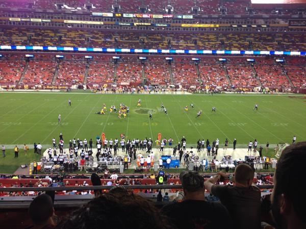 View from the Club Seats at Fedex Field