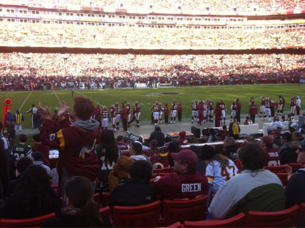 View of the field from the Lower Level at Fedex Field.