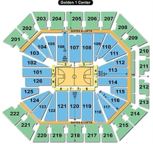 Golden 1 center seating chart views reviews sacramento kings