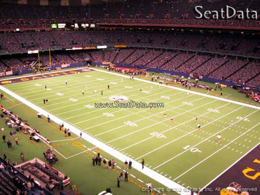 Seat view from section 535 at the Mercedes-Benz Superdome, home of the New Orleans Saints