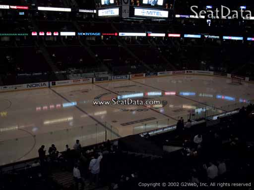 Seat view from section 210 at the Canadian Tire Centre, home of the Ottawa Senators