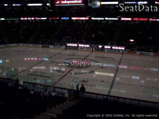 Seat view from section 221 at the Canadian Tire Centre, home of the Ottawa Senators