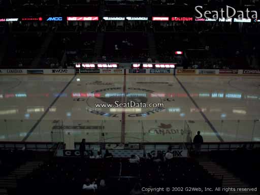 Seat view from section 222 at the Canadian Tire Centre, home of the Ottawa Senators