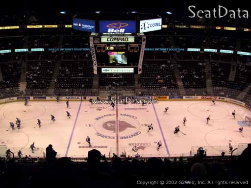 Seat view from section 308 at the Canadian Tire Centre, home of the Ottawa Senators