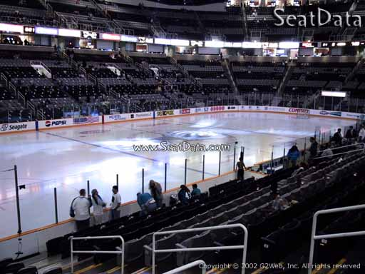 Seat view from section 103 at the SAP Center at San Jose, home of the San Jose Sharks