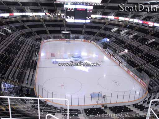 Seat view from section 209 at the SAP Center at San Jose, home of the San Jose Sharks