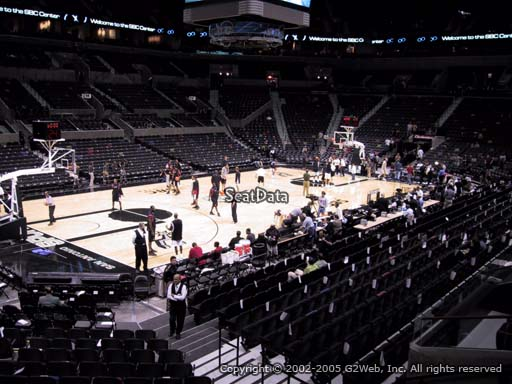 Seat view from Section 111 at the AT&T Center, home of the San Antonio Spurs