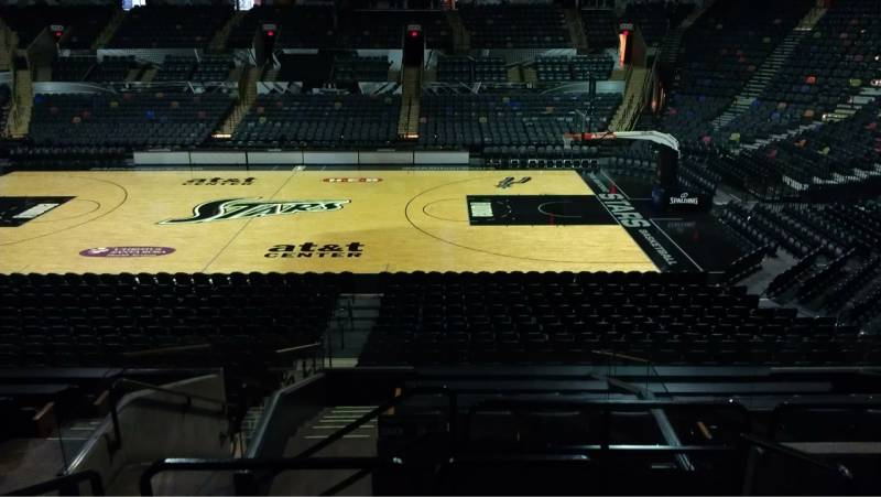 Seat view from Section 120 at the AT&T Center, home of the San Antonio Spurs