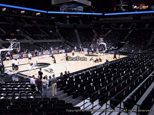 Seat view from Section 125A at the AT&T Center, home of the San Antonio Spurs