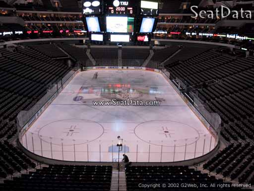 Seat view from section 201 at the American Airlines Center, home of the Dallas Stars