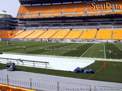 Seat view from section 112 at Heinz Field, home of the Pittsburgh Steelers