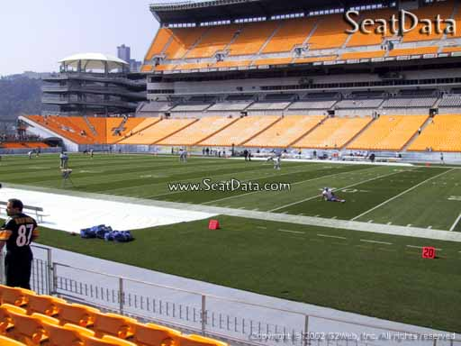 Seat view from section 113 at Heinz Field, home of the Pittsburgh Steelers