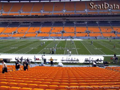 Seat view from section 135 at Heinz Field, home of the Pittsburgh Steelers