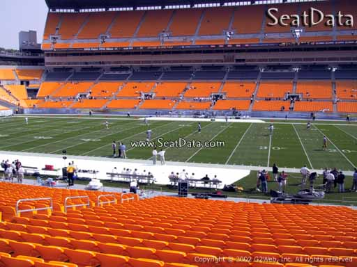 Seat view from section 136 at Heinz Field, home of the Pittsburgh Steelers