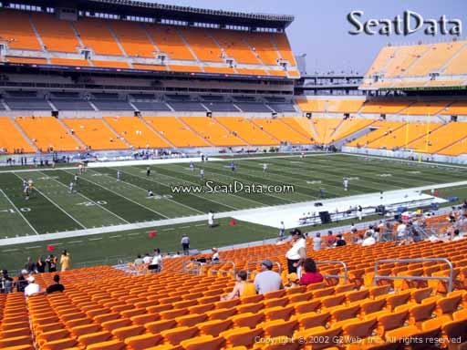Seat view from section 208 at Heinz Field, home of the Pittsburgh Steelers