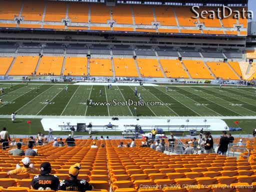 Seat view from section 211 at Heinz Field, home of the Pittsburgh Steelers