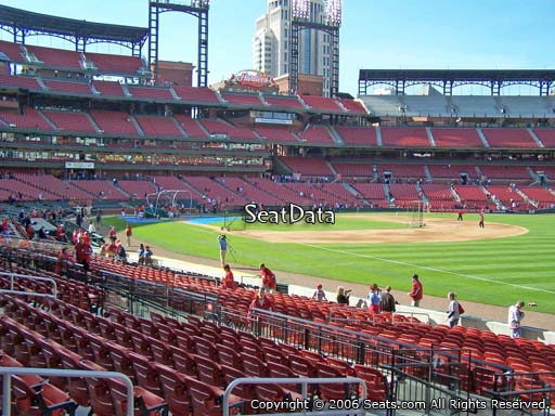 Seat view from section 135 at Busch Stadium, home of the St. Louis Cardinals