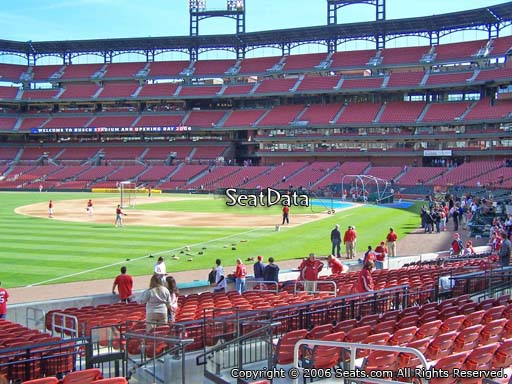 Seat view from section 165 at Busch Stadium, home of the St. Louis Cardinals