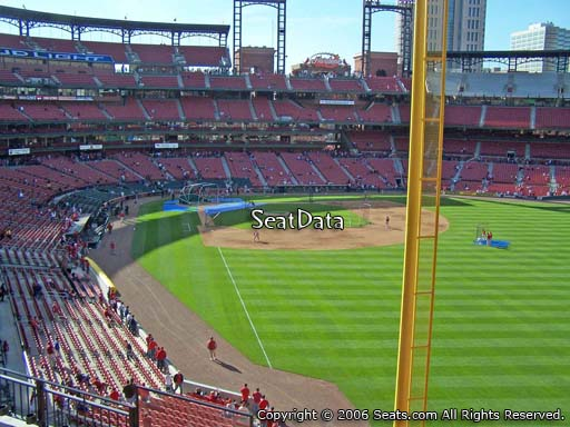 Seat view from section 230 at Busch Stadium, home of the St. Louis Cardinals