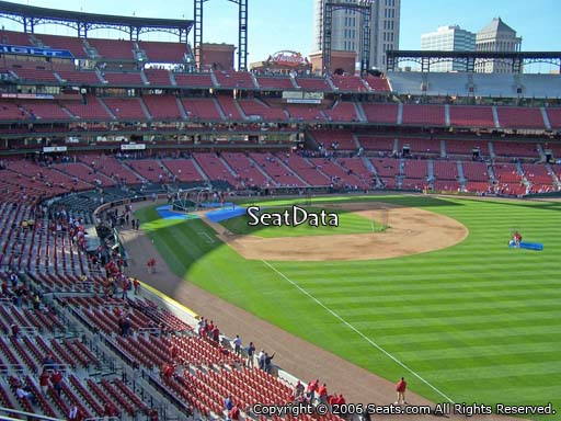 Seat view from section 232 at Busch Stadium, home of the St. Louis Cardinals